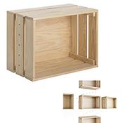 Caja de pino macizo Astigarraga Home Box sin barniz 51,2x38,4x28 cm