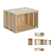 Caja de pino macizo Astigarraga Home Box sin barniz 38,4x25,6x28 cm