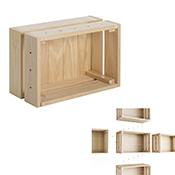 Caja de pino macizo Astigarraga Home Box sin barniz 38,4x16,5x28 cm