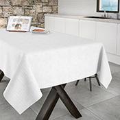 Mantel confeccionado Aitana Corbaz blanco 140X140 cm