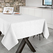 Mantel confeccionado Aitana Corbaz blanco 140X200 cm