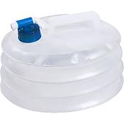 BIDON PLASTICO PLEGABLE PORTATIL CON GRIFO 5 L