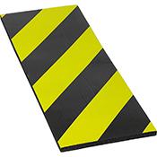 Protector parking autoadhesivo frontal negro/amarillo de 40x15x1 cm