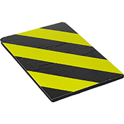 Protector parking autoadhesivo frontal negro/amarillo de 30x20x1 cm