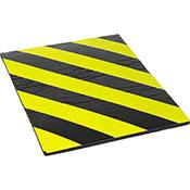 Protector parking autoadhesivo frontal negro/amarillo de 40x32x1 cm