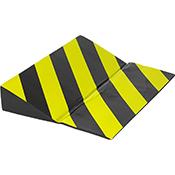 Protector parking tope autoadhesivo negro/amarillo de 40x30x7 cm