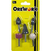 Puntas abrasivas OREWORK 1/4 5 piezas