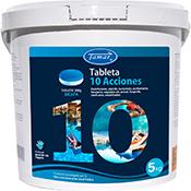 Cloro piscina 10 acciones - 5 Kg