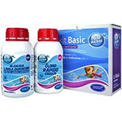 Kit Basic mantenimiento piscina: Cloro choque + Algicicida abrillantador