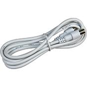 Cable coaxial + terminales 2,5 m blanco