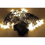 Luces de navidad Orework tira 20 leds CE blanco cálido (pilas)
