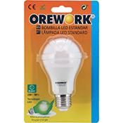 Bombilla led Orework E27 8 W luz cálida 640 lúmenes