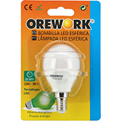 Bombilla led Orework E14 5 W luz cálida 400 lúmenes
