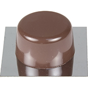 Tope puerta Inofix 2023 9 adhesivo marrón 2 uds