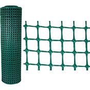 Malla plastica 20x20 mm verde