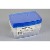 Recipiente Orework plástico hermético 4 uds 0,75 L