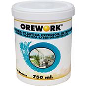Pintura Orework plástica exterior 750 ml blanco