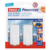 Gancho adhesivo Tesa Powerstrips 2 kg blanco