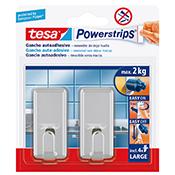 Gancho adhesivo Tesa Powerstrips 2 kg gris
