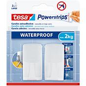 Gancho waterpro Tesa Powerstrips 2 kg gris
