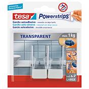 Gancho adhesivo Tesa Powerstrips 1 kg blanco/transparente