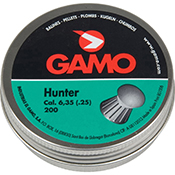 Balines Hunter Gamo 6,35 200 ud caja metal