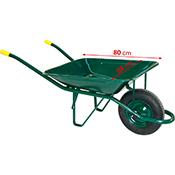 Carretilla metalica verde 60 l