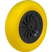 Rueda carretilla obra amarilla impinchable 350 mm diam