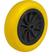 Rueda carretilla obra amarilla impinchable 260 mm diam