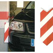 Esquinera protectora de espuma rojo/blanco 7,7x1,5+7,5 cm