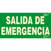 SEÑAL SALIDA DE EMERGENCIA  30x15 cm