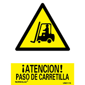 SEÑAL PASO DE CARRETILLA 21x30 cm