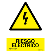 SEÑAL RIESGO ELECTRICO 21x30 cm