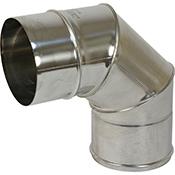 Codo estufa 90º Bofill inoxidable de 140 mm