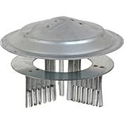 Sombrero estufa de Theca galvanizado de 80-150 mm