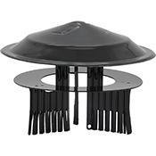 Sombrero estufa de Theca vitrificado de 80-150 mm