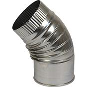 Codo estufa 45º Bofill inoxidable de 140 mm
