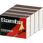 Cerillas Samba de madera de 5 cm pack de 4 unds