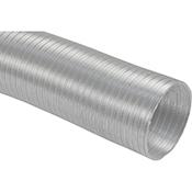 Tubo salida de humos de alumínio blanco extensible de 120 x 5 m