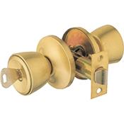 Pomo Ucem 3000 AL latonado cerradura de paso y cilindro con llave 60 mm