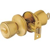 Pomo Ucem 3000 BG latonado cerradura de condena y cilindro con llave 60 mm