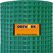 Malla soldada verde 19×19 mm 100 cm Ø 1,4 mm 10 m Orework