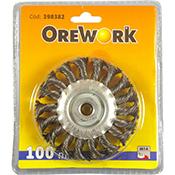 Cepillo alambre OREWORK circular trenzado 100 mm 14