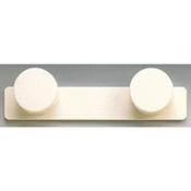 Colgador Inofix 3072 2 perchas blanco