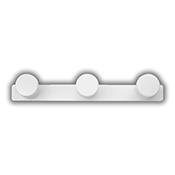 Colgador Inofix 3073 3 perchas blanco